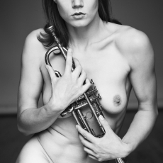 Nadine with Trumpet